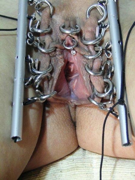 Extreme vagina piercings
